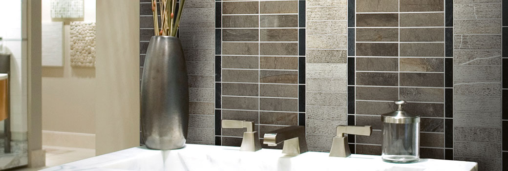 Slide - Linea Strip - Mosaico in marmo applicato al bagno