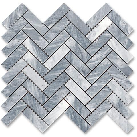 Linea Taylor nella versione cromatica grigia è realizzata in marmo Bardiglio Nuvolato levigato. Il modulo è in formato 28,1 x 31,8 cm ed è composto da listelli cadauno 2,3×7,3 cm.