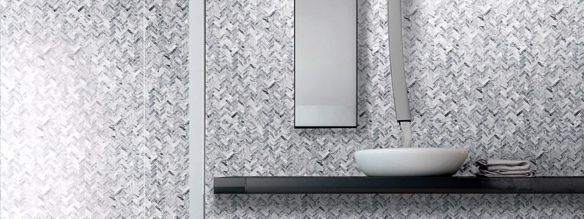 mosaico in marmo per bagno