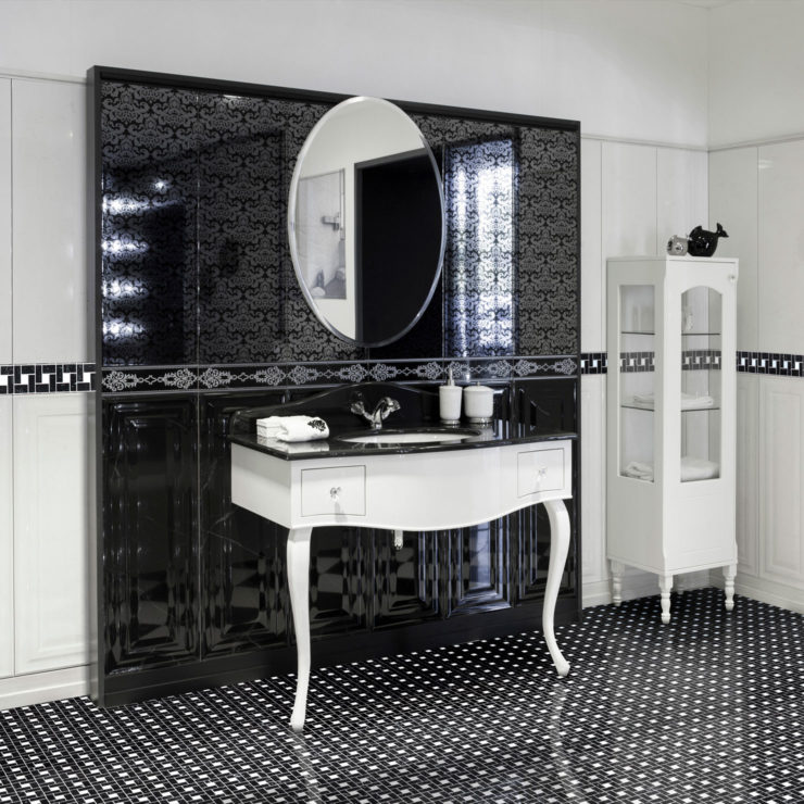square noir marquina et marbre blanc carrara ideamarmo. Black Bedroom Furniture Sets. Home Design Ideas