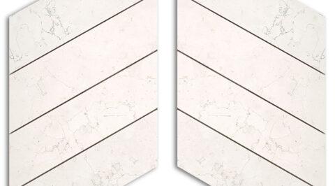 Mosaico in marmo Biancone levigato