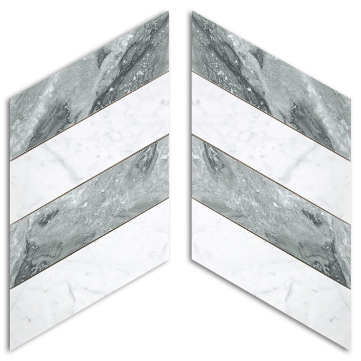 Mosaico in marmo Chevron
