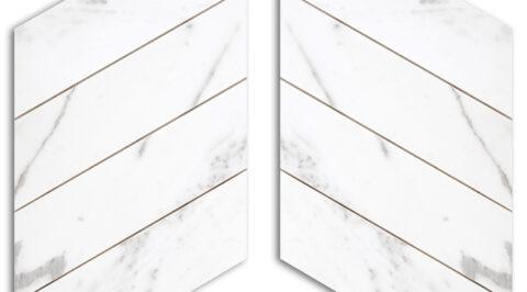 Mosaico di marmo Calacatta levigato